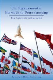 US Engagement in International Peacekeeping - Citizens for Global ...