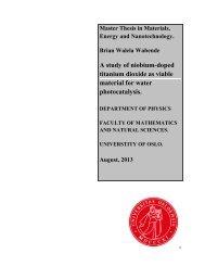 A study of niobium-doped titanium dioxide as viable material ... - DUO
