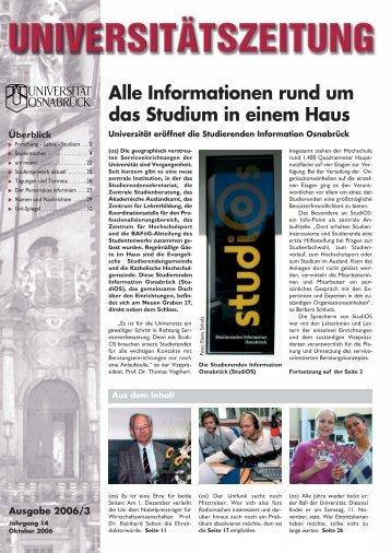 Ausgabe 2006/3 - Universität Osnabrück