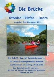Juni - Aug 13 - Ev. Kirchengemeinde Steeden mit Hofen und Dehrn