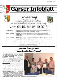 Garser Infoblatt 10-2013 - Gars a. Inn