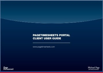 PAGETIMESHEETS PORTAL CLIENT USER GUIDE - Michael Page