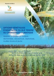 Options génétiques d'adaptation du blé tendre au changement ...