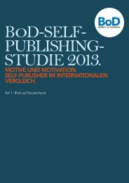 Self-Publishing-Studie 2013 - Books on Demand Newsroom
