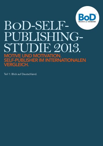 Self-Publishing-Studie 2013 - Books on Demand Newsroom