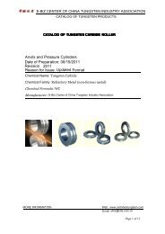 Anvils and Pressure Cylinders Revision 2011 ... - Tungsten Carbide
