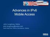 Advances in IPv6 Mobile Access - gogoNET LIVE!