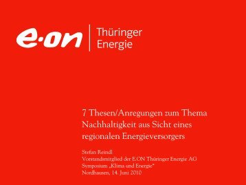 E.ON PowerPoint - Beirat zur Nachhaltigen Entwicklung in Thüringen