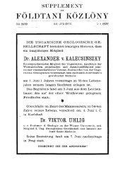 Földtani Közlöny 41. köt. 1911. 5-6. füzet - EPA