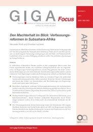 Den Machterhalt im Blick - GIGA German Institute of Global and Area ...
