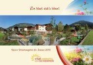 Sommerprospekt - Vital Landhotel Schermer