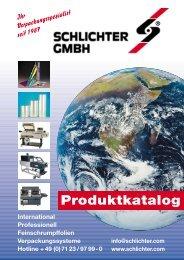 Produktkatalog - Schlichter GmbH