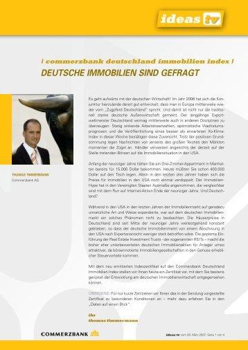 deutsche immobilien sind gefragt - Commerzbank AG