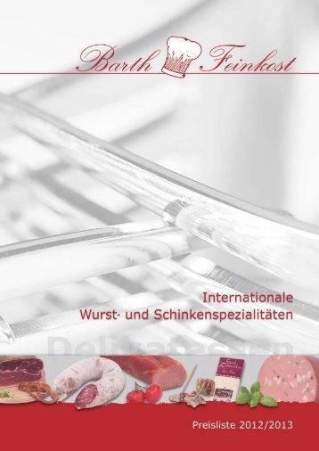 Internationale Wurst- und Schinkensprezialitäten - Barth Feinkost ...