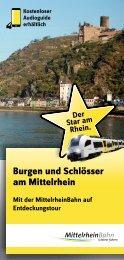 Flyer - Burgen und Schlösser am Mittelrhein - Mittelrheinbahn