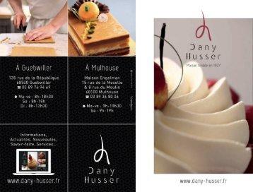 Télécharger notre catalogue - Pâtisserie Dany Husser