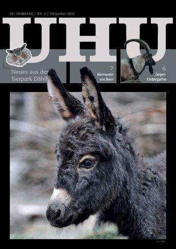 Uhu Nr. 4/2010 (PDF, 2.70 MB) - Tierparkverein Bern