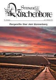 Morgenröte über dem Wannenberg - Stein