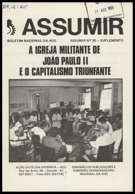 a igreja militante de joão paoloii e 0 capitalismo ... - cpvsp.org.br