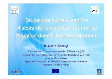 Brucellose ovine & caprine Histoire de l'éradication en France ...