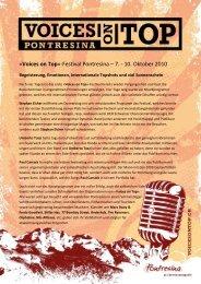 Pressemitteilung Oktober 2010 Deutsch11. 10 ... - Voices on Top