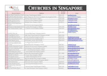 List Of Churches In Singapore Wedding Tweets