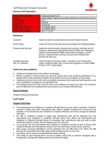 131010 Prepaid Tariff Modification V2 Vodafone Qatar