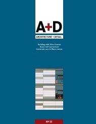 ARCHITECTURE + DETAIL - Karl Krämer Verlag Stuttgart