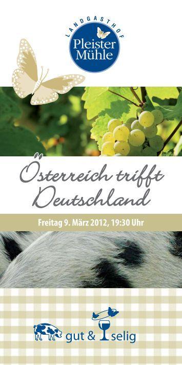 Freitag 9. März 2012, 19:30 Uhr - Landgasthof Pleister Mühle