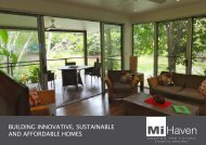 BUILDING INNOVATIVE, SUSTAINABLE AND ... - Mihaven Homes