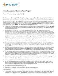 Travel Rewards Visa® Business Travel Program Terms and