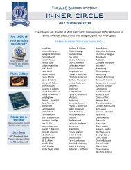 The following AKC Breeder of Merit participants have achieved 100 ...