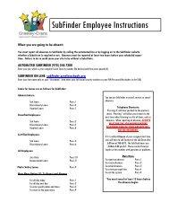 SubFinder Employee Instructions - Greeley Schools