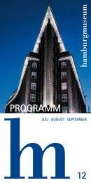 Programm 12 - Museum für Hamburgische Geschichte