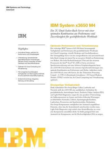 ibm x3650 m4 specs pdf