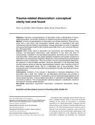 Trauma-related dissociation - ERS NIJENHUIS Ph.D.