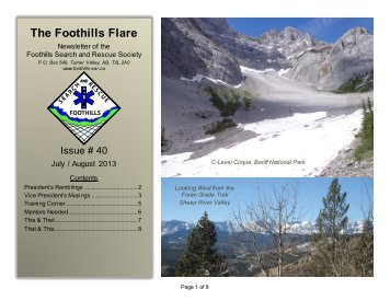 FSAR Newsletter Issue 40 Jul-Aug 2013 - Foothills Search and ...