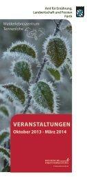 Winterprogramm 2013/2014 - Amt für Ernährung, Landwirtschaft und ...