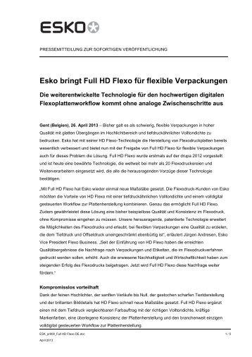 Esko bringt Full HD Flexo für flexible Verpackungen - duomedia