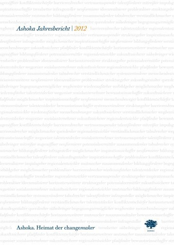 Ashoka Jahresbericht | 2012 - Ashoka Deutschland