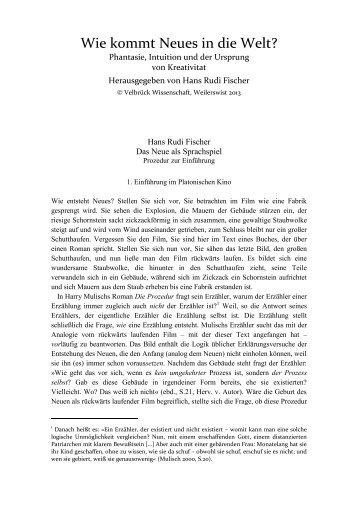 Ausführliche Informationen - Velbrück Wissenschaft
