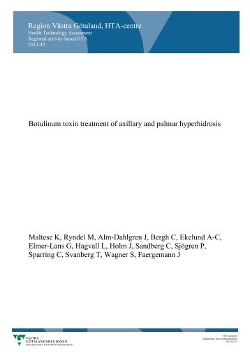 Injection treatment with botulinum toxin for patients with axillary and ...