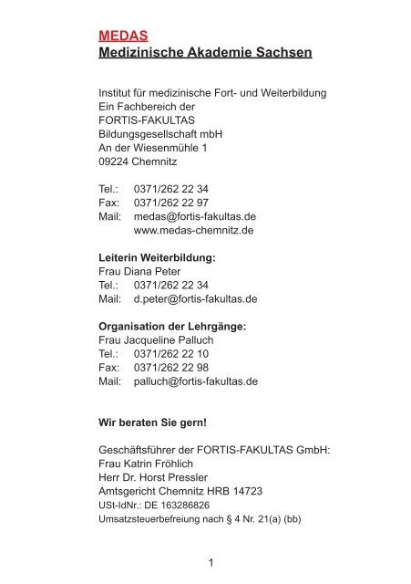 MedasKatalog_aktuell - MEDAS Medizinische Akademie Sachsen