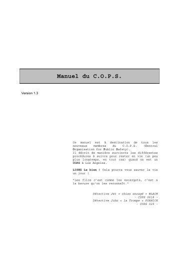 Manuel du C.O.P.S. - Free