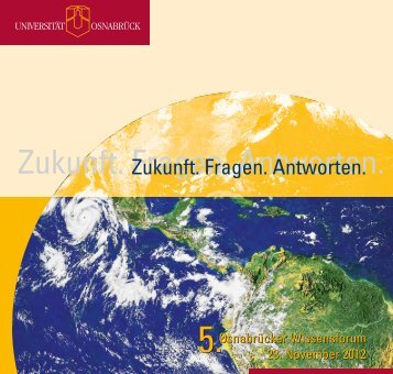 Zukunft. Fragen. Antworten. - Universität Osnabrück