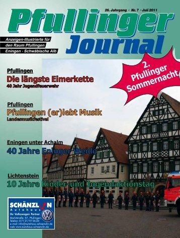 Ausgabe Juli 2011 - beim Pfullinger Journal