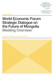 World Economic Forum Strategic Dialogue on the Future of Mongolia ...