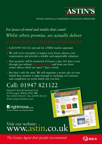 download leaflet now - Edward G Astin & Associates
