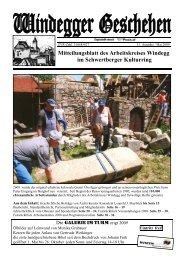 Mitteilungsblatt des Arbeitskreises Windegg im Schwertberger ...