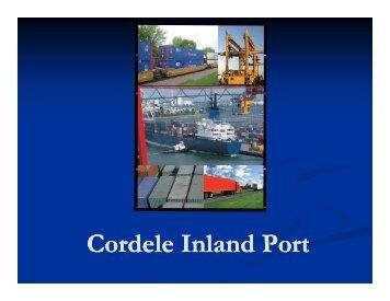 Cordele Inland Port - the GDOT